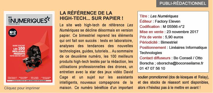 LES NUMERIQUES : La référence de la High-tech... sur papier!